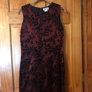 Burgundy & black formal dress